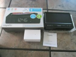 Capello Wireless Charging tray Dual Alarm Clock Radio QI phone charger usb port