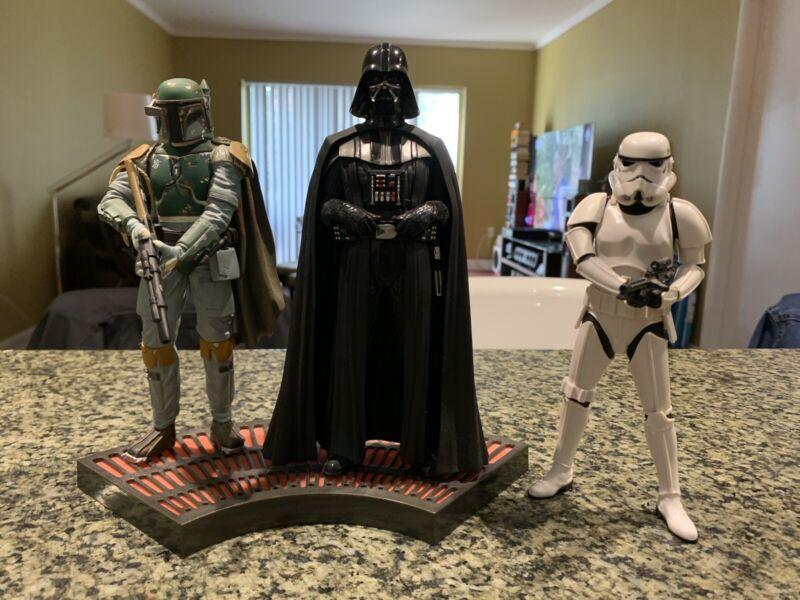 Kotobukiya ARTFX+ Star Wars Boba Fett & Darth Vader & Storm Trooper Statues