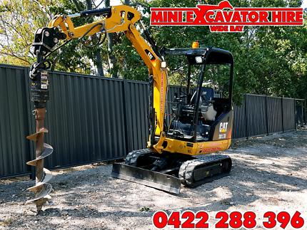 Excavator Tip Truck Bobcat Hire Hervey Bay Maryborough Post Auger