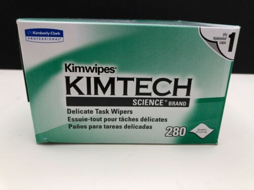 24 Bx Professional Kimwipes Kimtech delicate task Wipers 280 wipes per box 34120