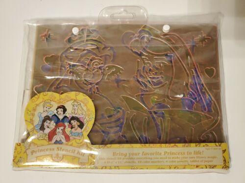 Vintage Disney Classic Princess Stencil Kit 6 Princesses Stencils 11 X 8.5  - $14.99