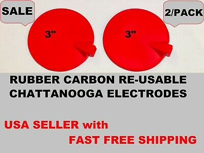 2ps Carbon Rubber Multi-use Electrode For Chattanooga Intelect Legend Xt Series