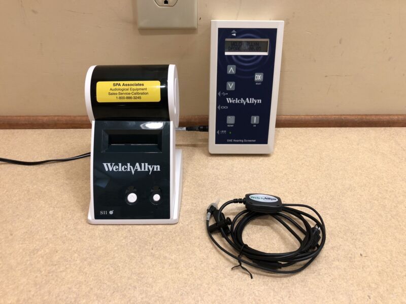 Welch Allyn OAE Hearing Screener with Label Printer & new Calibration Cert