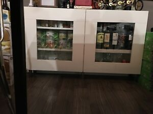 IKEA White Besta VARA Display Cabinet