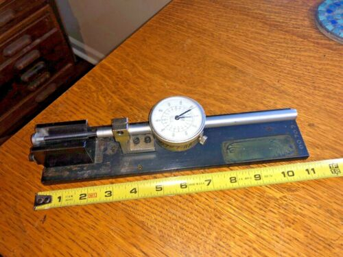 "HORIZONTAL PRECISION GAGE FIXTURE WITH TECLOCK INDICATOR .001"" 2"" RANGE"