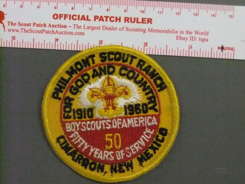 Boy Scout Philmont 1960 BSA 50th Anniversary Patch 4965GG