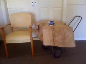 Bespoke Tree Trunk Coffee Table on Wheels - Industrial Vintage Bassendean Bassendean Area Preview