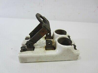 Vintage Leviton Porcelain Double Knife Switch