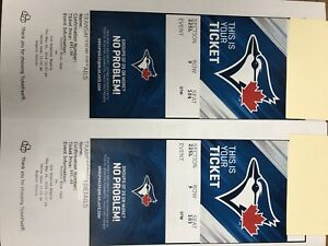 Jays Against Los Angeles Angels REDUCING TO $100.00 FOR THE PAIR