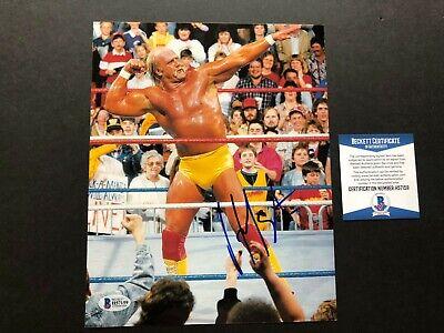 Hulk Hogan Hot! signed autographed WWF WWE wrestling 8x10 photo Beckett BAS (Hulk Hogan Autographed 8x10 Photo)