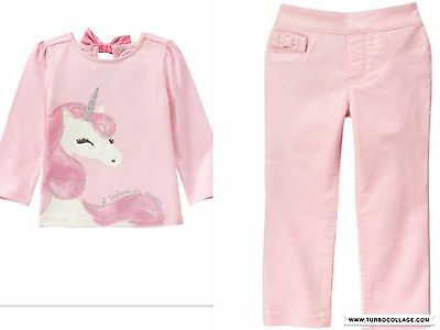 NEW GYMBOREE  UNICORN ENCHANTED TOP AND  PANTS  OUTFIT NWT SIZE 2T