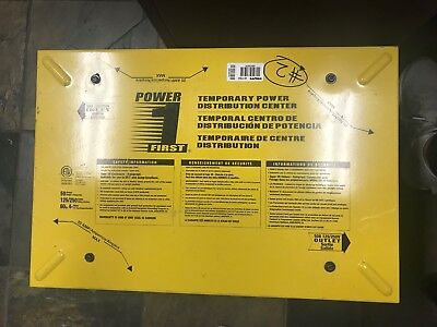 Power First Power Distribution Box 125250vac 50 Amps 60hz 4 Wire 1236