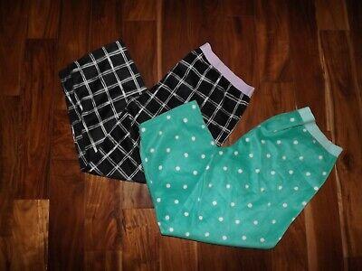 NEW Womens JUNE & DAISY Green Black Plaid Fleece Pajama Pants Sleepwear Set XXL