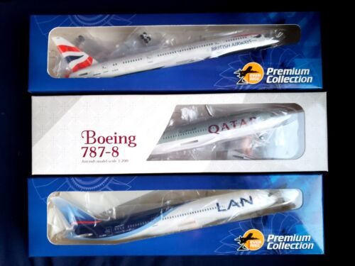 1:200 Risesoon Skymarks British Airways, LAN Airlines & Qatar Airways 787-8 NEW