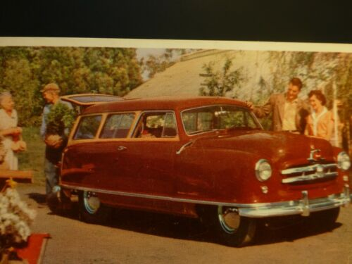 VINTAGE Nash Airflyte Postcard 1953 Red Station Wagon from Indep. MO Auto Dealer