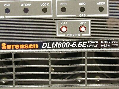 Sorensen Dlm600-6.6e 600v 6.6a 4kw Dc Power Supply