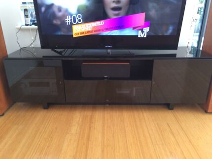 Tv Entertainment Unit Black Glass As New  Mount Lawley Stirling Area Preview