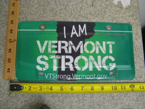 Vermont I AM VERMONT STRONG License Plate VT Booster Hurricane Irene FLOODING