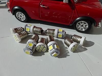 Austin Rover Mini Classic Smiths Dash Gauges Warm White LED Complete Bulb Set