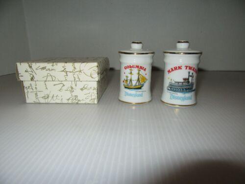 Salt & Pepper Shakers-Disneyland Souvenir-Columbia & Mark Twain-IOB/Tag Japan