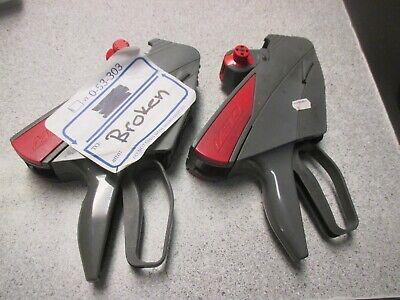 2 Meto Price Label Gun Lot 1 Working 1 Parts Repair