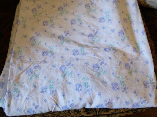 VTG Russian White Blue Floral Cotton Open Center European Duvet Blanket Cover