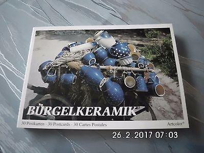 30 Postkarten, Ansichtskarten von Bürgel Keramik Kunst-Buch