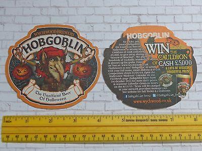 Beer Coaster ~ WYCHWOOD Brewery Hobgoblin Beer of Halloween ~ 2013 Prize - Halloween Contest Prizes
