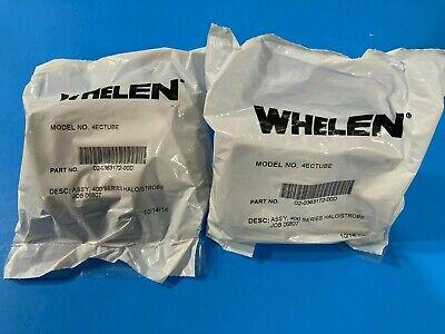 New 2 Two- Whelen 400 Series Halogen Strobe Light Reflector Assemblies 4ectube