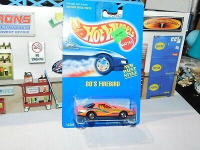 Hot Wheels 1991 Collector #256 80'S Firebird Blue Card Basic wheels