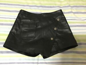 Real leather girls shorts