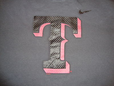 MLB Texas Rangers Major League Baseball Fan Nike Apparel Gray T Shirt L