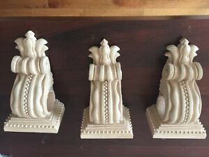 Set of 3 Decorative Curtain Rod Holders