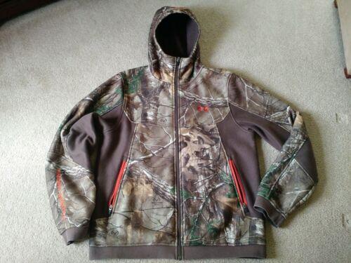 Mens Under Armour Realtree Camo Ayton Hooded Jacket Large