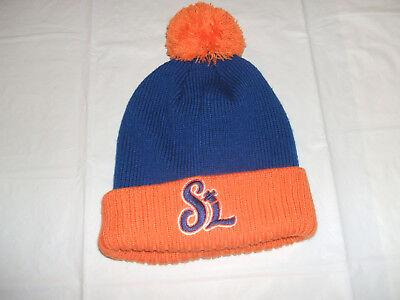 St. Lucie Mets MiLB Winter Cuff Pom Hat BRAND NEW N.Y. Mets Minor League FSL - Mets Winter Hat