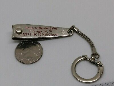 Vintage Reflecto Barrier Chicago ILL. Nail Clipper Keychain Salesman Sample