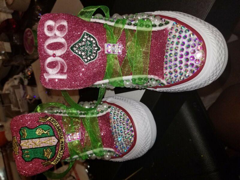 Alpha kappa alpha sorority aka shoes.