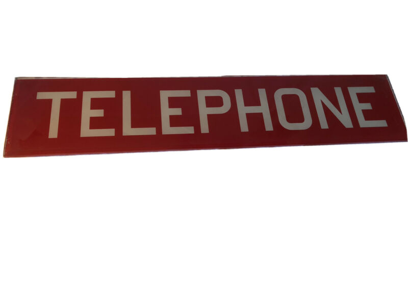 Vintage Glass Telephone Booth Authentic Sign