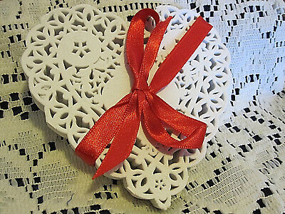 12 💝PCS 4 IN xtra LACEy HEART WHITE PAPER DOILIES CRAFTS love cards FREE SHIP - Doilies Paper
