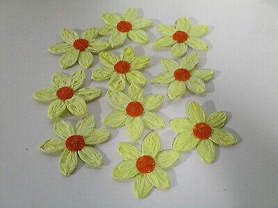 Dekoration Deko 10 Papier Krepp Blumen Draht Kunstblumen Streuer Basteln Blüten