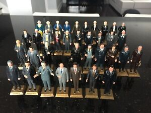 Vintage 1960's Set of 36 US Presidents figurines by Marx