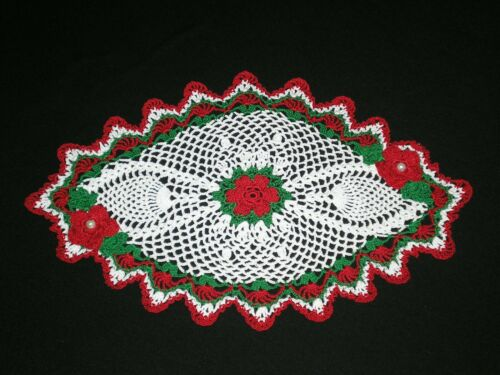 New Handmade Christmas Doily Crocheted  Flowers  Pineapple