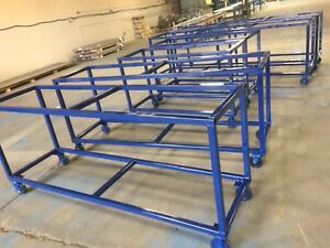 Heavy duty custom made work benches or table base for sale