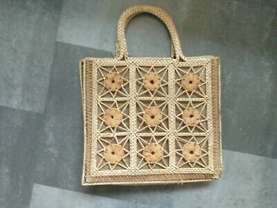 Vintage original 1970's basket bag