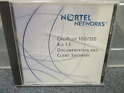 Nortel Norstar Call Pilot 100 150 Release 1.5 Cd Doc Client Software Ntab9867