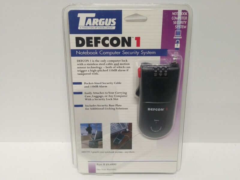 TARGUS DEFCON 1 NOTEBOOK COMPUTER SECURITY SYSTEM. (FREE SHIPPING)