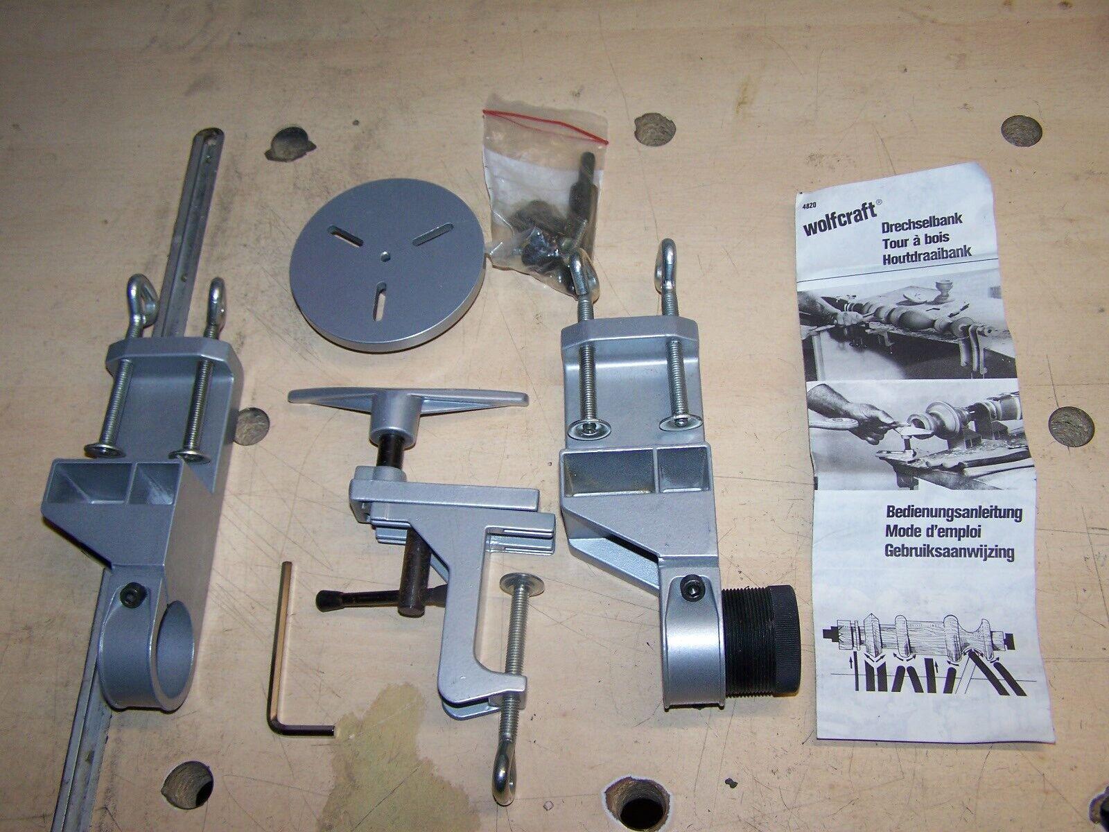 Wolfcraft Drechselbank 4820 für Bohrmaschinen NEU