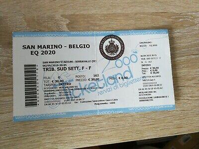 Ticket Euro 2020 Qualification : Saint Marin - Belgique 06-09-2019