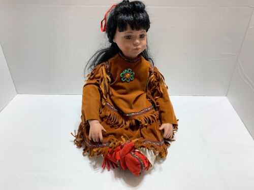 Timeless Collection Native American Indian Doll Limited Ed. Porcelain 416/2000