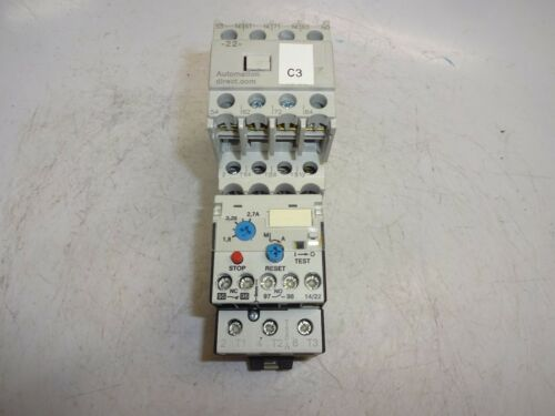 AUTOMATION DIRECT GH15BN CONTACTOR W/ GH15T22 CONTACT BLOCK W/ RTD32 270 RELAY
